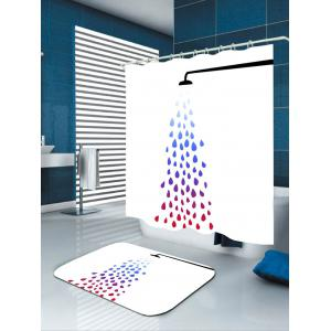 Polyester Taking Shower Print Bath Shower Curtain -