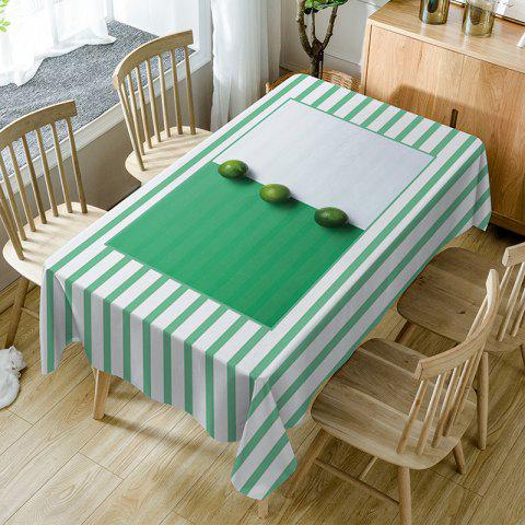 Shop Fruits Striped Print Fabric Waterproof Table Cloth