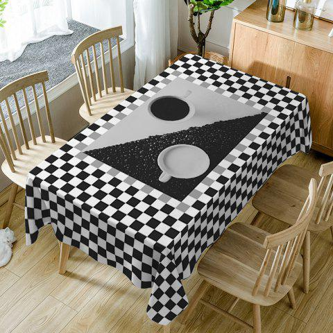 Outfit Plaid Print Fabric Waterproof Dining Table Cloth