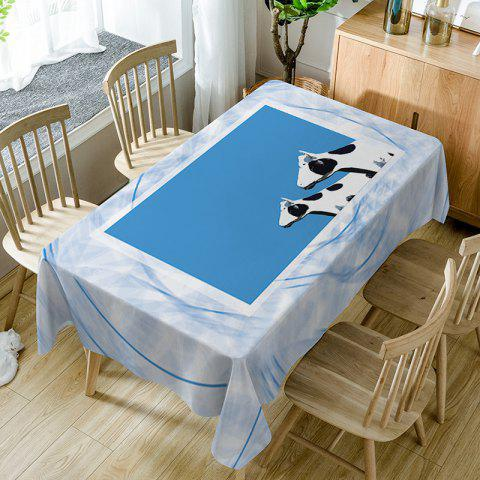 Trendy Dairy Cattle Print Fabric Waterproof Table Cloth