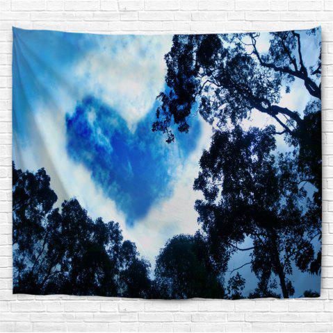 Fancy Cloud Heart Print Wall Art Tapestry
