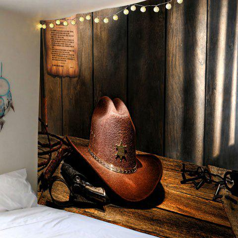 New Wall Art Decor Cowboy Hat Printed Hanging Tapestry