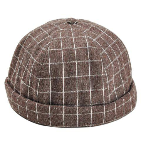 Affordable Vintage Checked Pattern Embellished Beret Hat