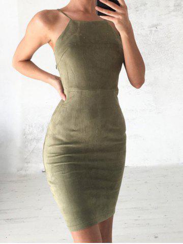 Discount Back Lace Up Bodycon Dress