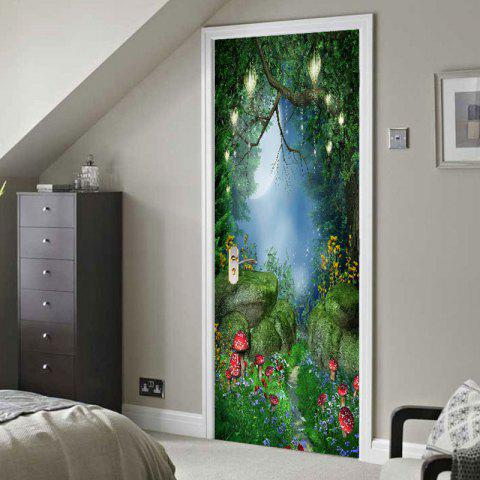 Chic Dreamy Mushroom Pattern Door Art Stickers