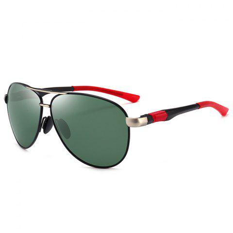 Outfit Metal Full Frame Crossbar Embellished Pilot Sunglasses