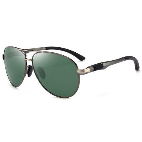 Shops Anti UV Crossbar Embellished Pilot Sunglasses