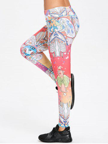 Store Floral Print Skinny Workout Leggings