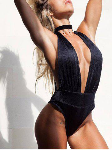 Shops Plunging Neck Padded Swimsuit