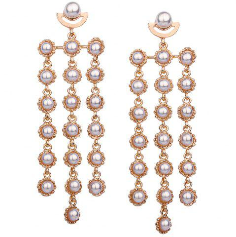Fashion Statement Artificial Pearl Layered Earrings