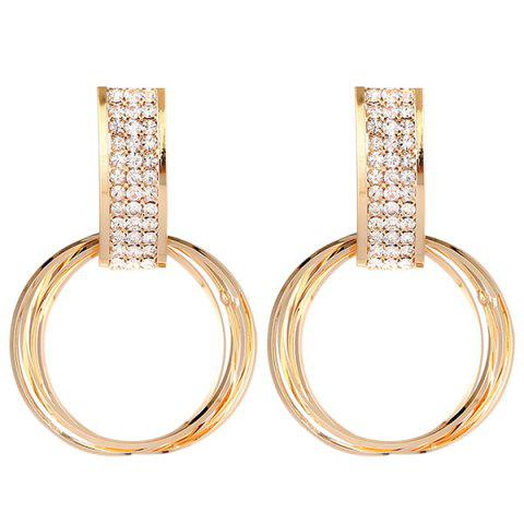 New Circle Halo Stud Drop Earrings