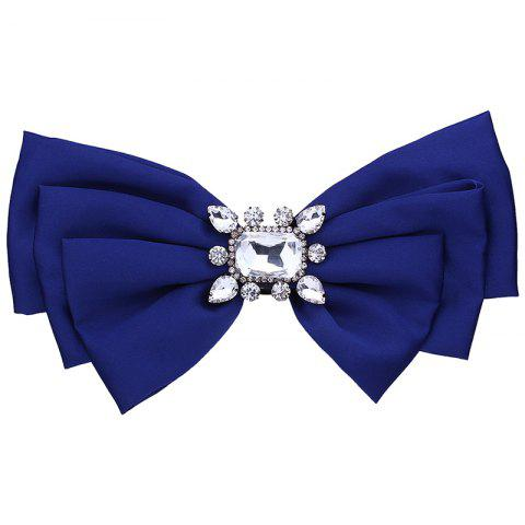 Outfits Faux Crystal Embellished Bowknot Fabric Brooch