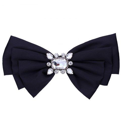 Chic Faux Crystal Embellished Bowknot Fabric Brooch