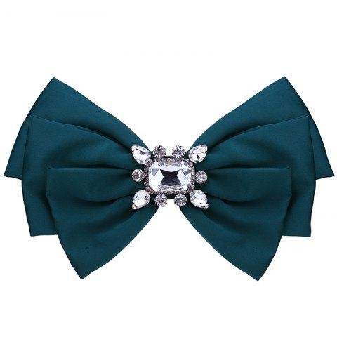 Hot Faux Crystal Embellished Bowknot Fabric Brooch