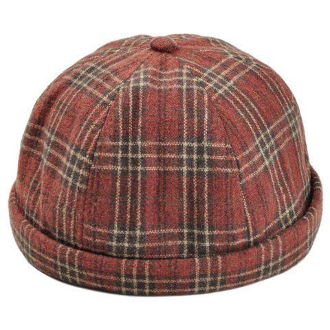 Retro Tartan Motif Magic Autocollant Chapeau Beret