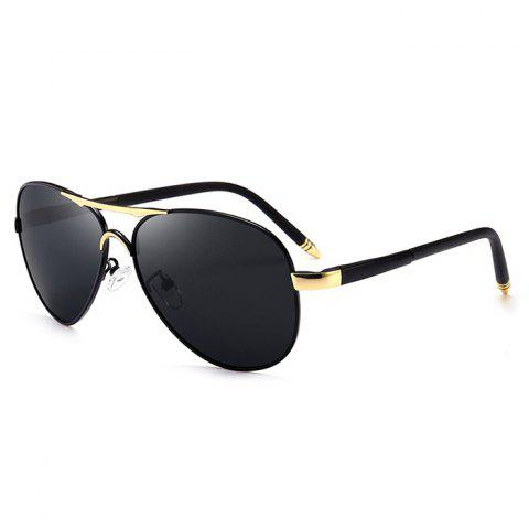 Fashion Unique Metal Full Frame Crossbar Embellished Pilot Sunglasses