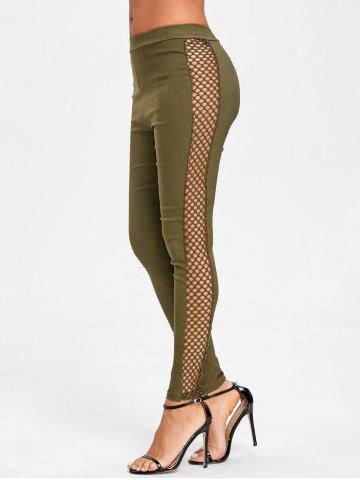 Fancy Side Fishnet Cross Pants