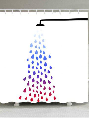 Fancy Polyester Taking Shower Print Bath Shower Curtain