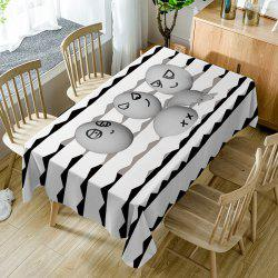 Egg Emoticon Print Fabric Waterproof Table Cloth -