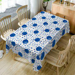 Polka Dot Print Fabric Waterproof Table Cloth -