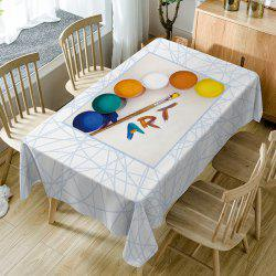Painting Art Print Fabric Waterproof Table Cloth -