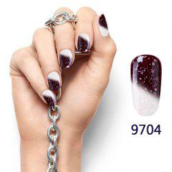 8ML Snowy Temperature Change Color Soak Off Nail Art DIY Nail Polish -