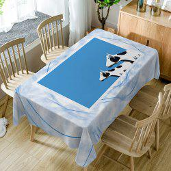 Dairy Cattle Print Fabric Waterproof Table Cloth -