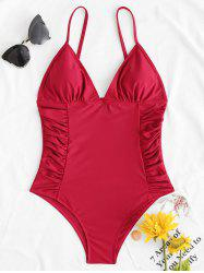 Ruched Cami One Piece Swimwear -