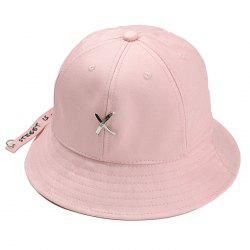 Metal X Pattern Embellished Bucket Hat -