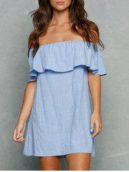 Flounce Trim Off The Shoulder Dress -