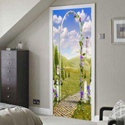 Gate of Dreamworld Pattern Door Art Stickers -