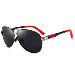 Anti UV Crossbar Embellished Pilot Sunglasses -