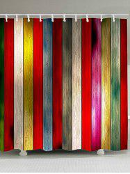 Colorful Plank Print Shower Curtain -