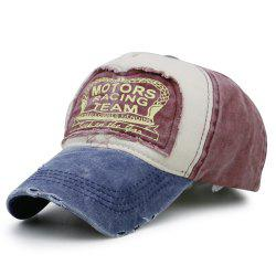 MOTORS RACING TEAM Pattern Adjustable Sunscreen Hat -