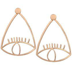 Eye Lash Funny Front Back Earrings -