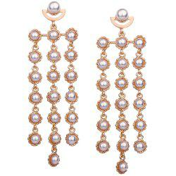 Statement Artificial Pearl Layered Earrings -