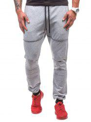 Drawstring Waist Ripped Jogger Sweatpants -