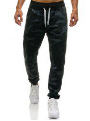Camouflage Drawstring Jogger Sweatpants -