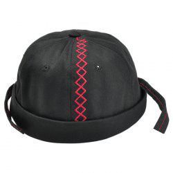Unique Rhombus Pattern Embroidery Beret Hat -