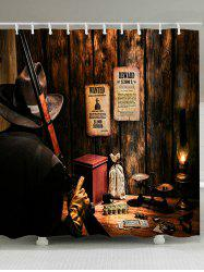 Western Cowboy Hunter Print Shower Curtain -