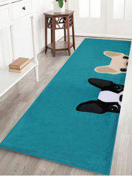 Puppy Head Coral Velvet Floor Area Rug -