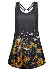 Mountain Sailing Print Tank Top -