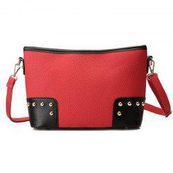 Studded Color Block Shoulder Bag -