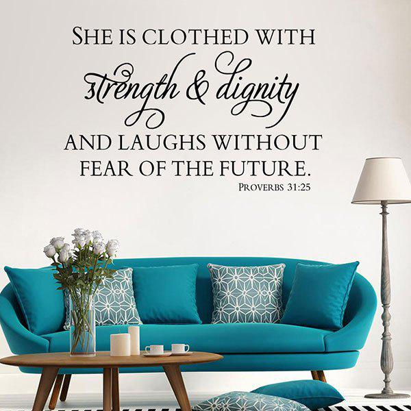 Proverbes Inspirational Patterned Wall Decal