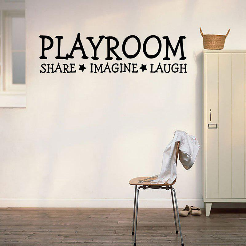 Playroom Share Imagine Laugh Pattern Letter Wall Sticker