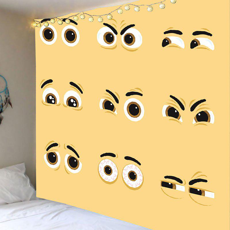 Sale Vivid Expression Eyes Printed Wall Art Hanging Tapestry