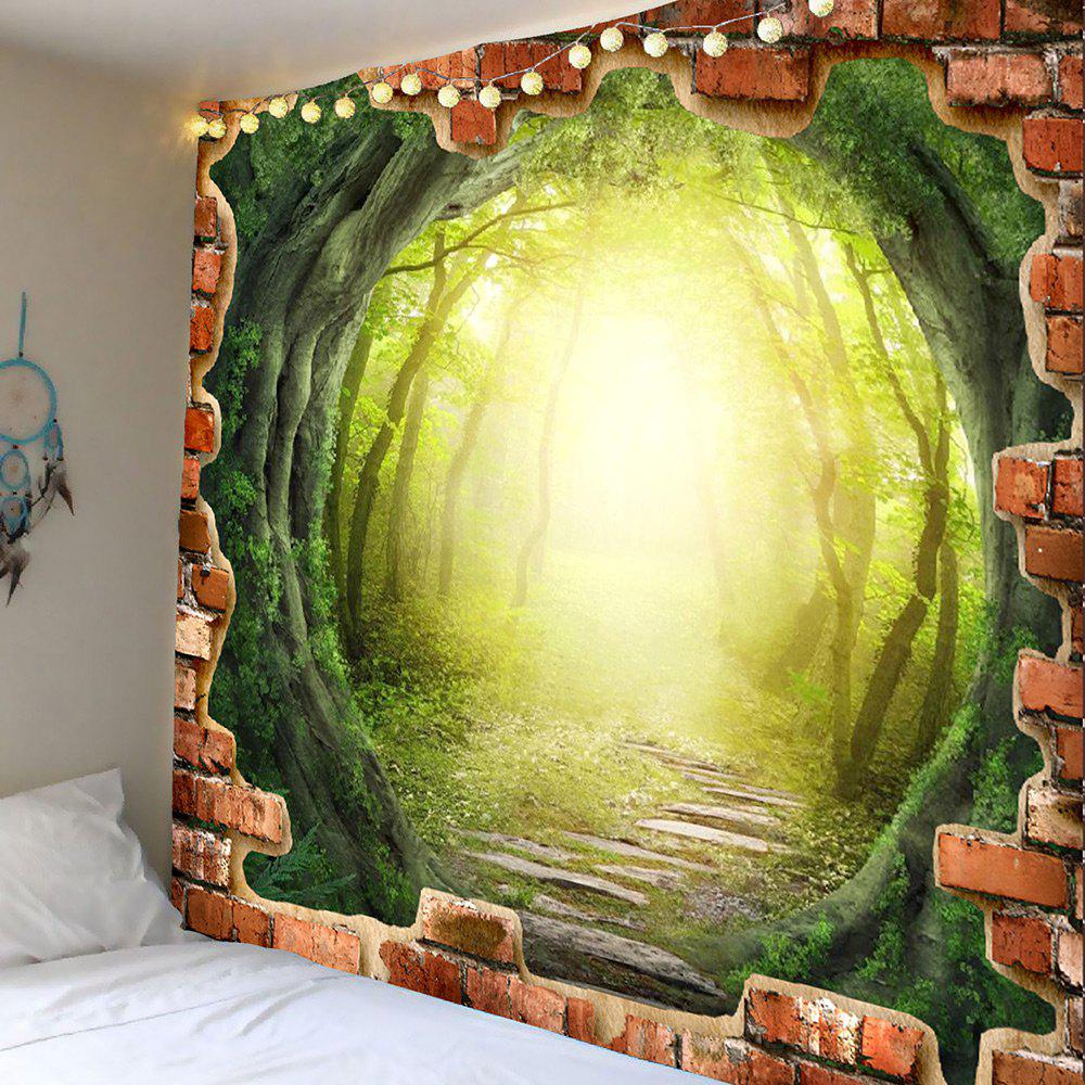 Green W79 Inch * L59 Inch Tree Hole Dreamy Forest Pathway Print Wall ...