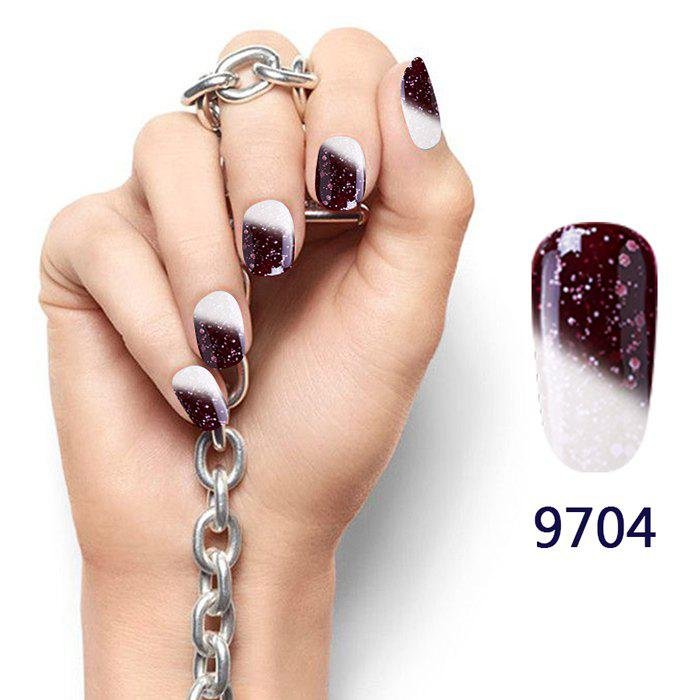 Fancy 8ML Snowy Temperature Change Color Soak Off Nail Art DIY Nail Polish