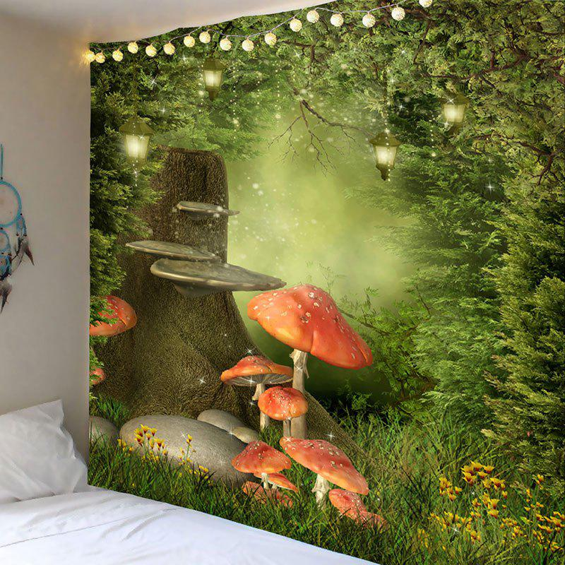 Sale Dreamy Mushroom Forest Print Wall Art Tapestry