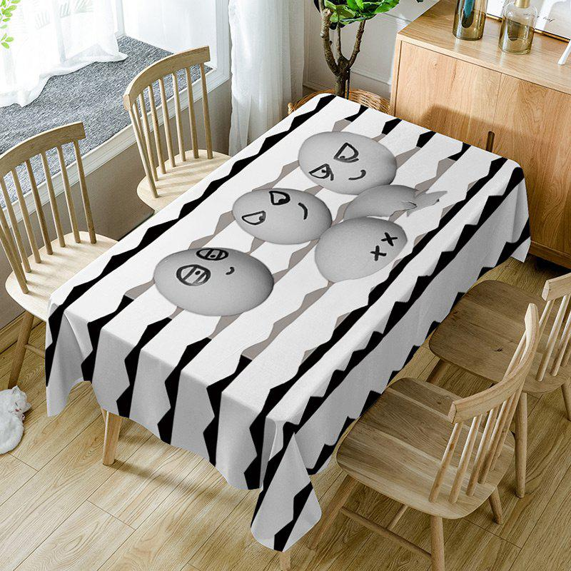 Latest Egg Emoticon Print Fabric Waterproof Table Cloth